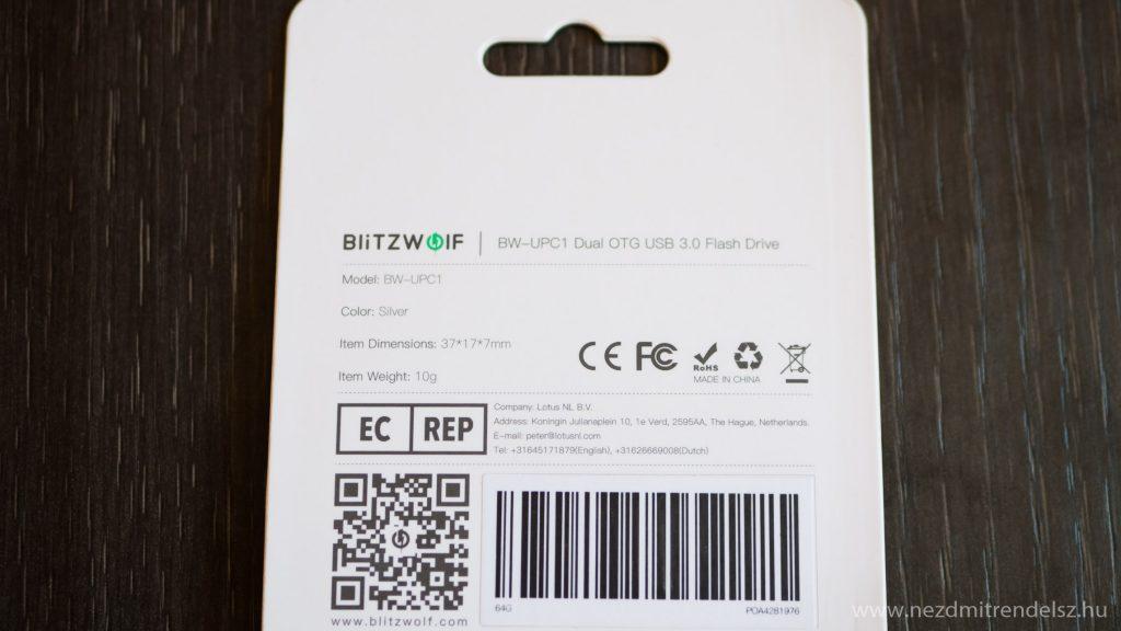 BlitzWolf BW-UPC1 64GB pendrive (3 of 9)