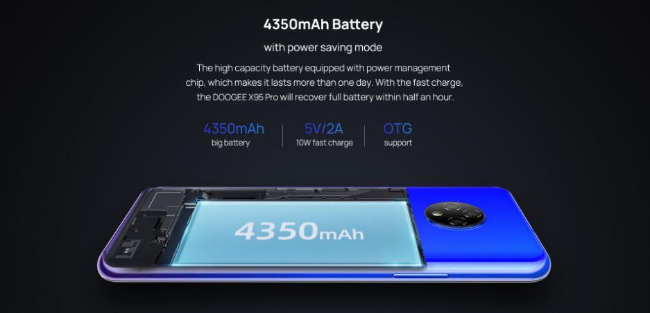 Doogee X95 Pro battery