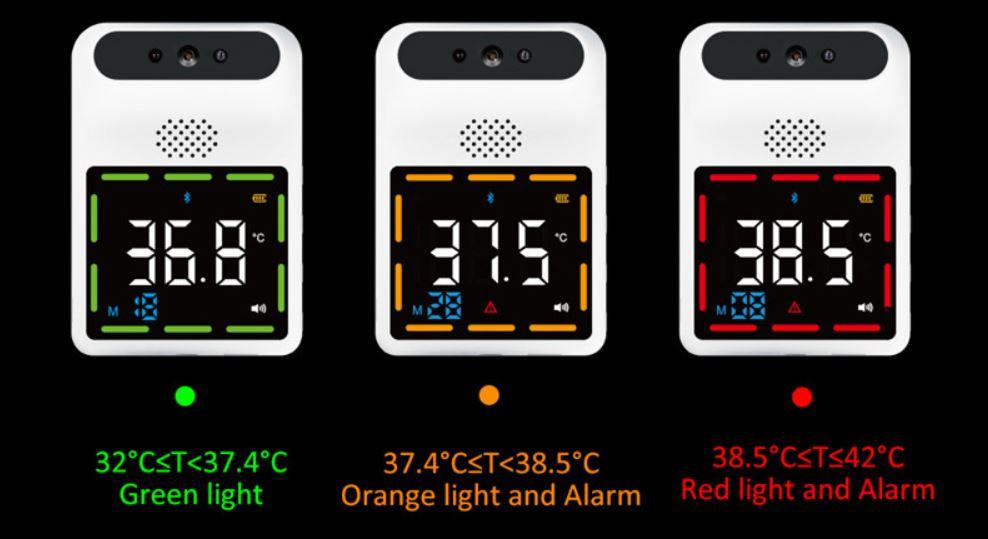 Falra szerelhető infravörös lázmérő 2