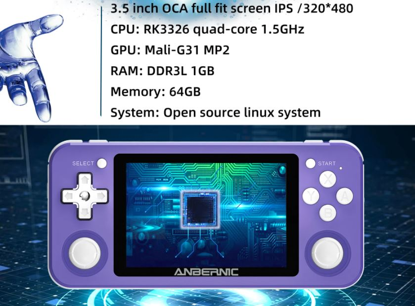 ANBERNIC RG351P specs