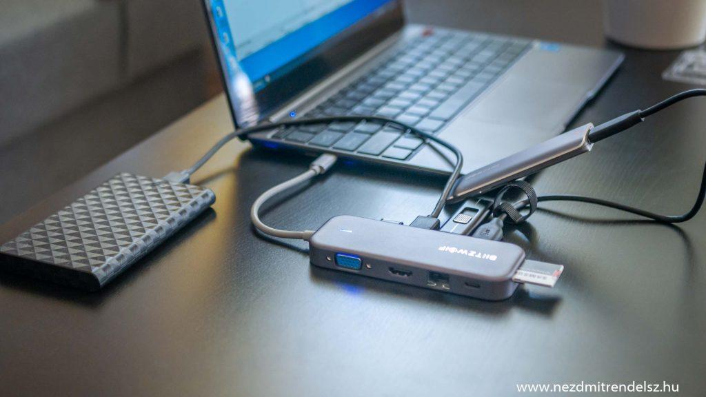 BlitzWolf BW-TH8 11 in 1 USB HUB -4
