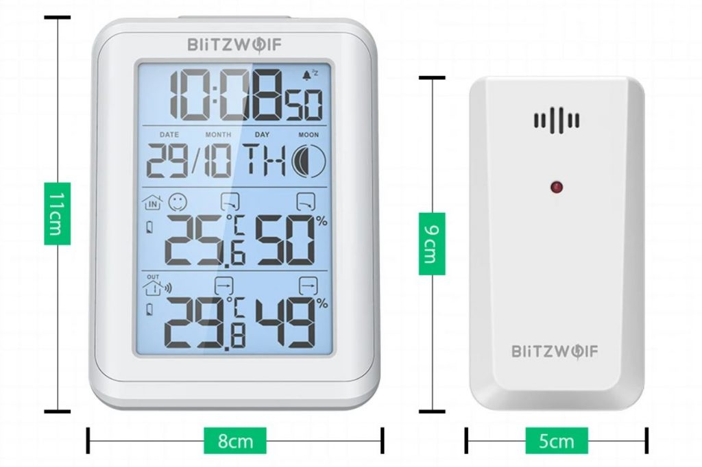 BlitzWolf BW-TM01 időjárás állomás 3