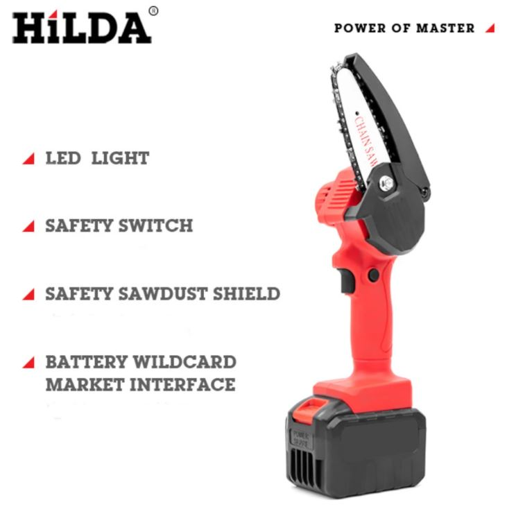 HILDA 21V akkumulátoros mini láncfűrész