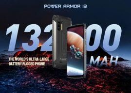 Az új Ulefone Power Armor 13 akkumulátora nagyobb, mint egy átlagos kapacitású külső akkumulátornak