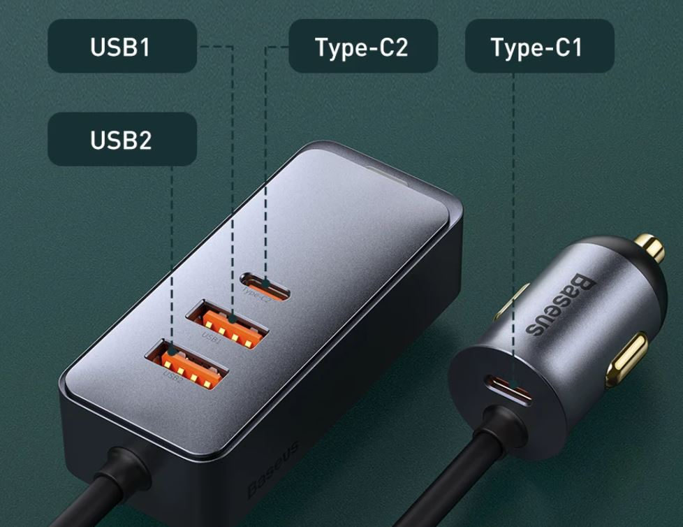 Baseus 120W PPS szivargyújtós adapter 1